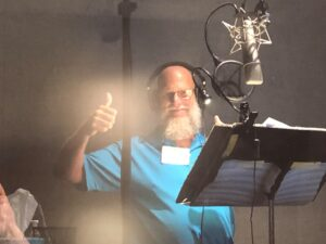 Steve giving a 'thumbs up' in a professional recording studio